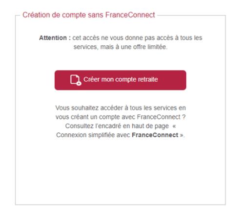 Créer un compte sur info-retraite.fr