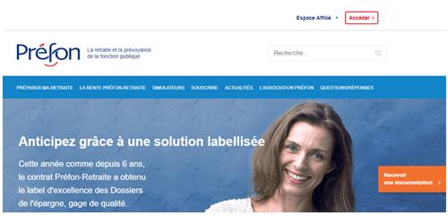 www.prefon-retraite.fr mon compte