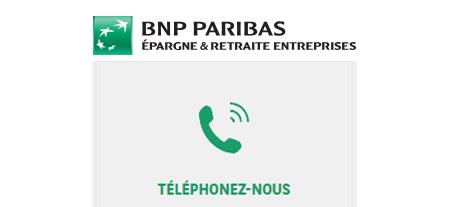 BNP Paribas Epargne & Retraite Entreprises: Contact par téléphone