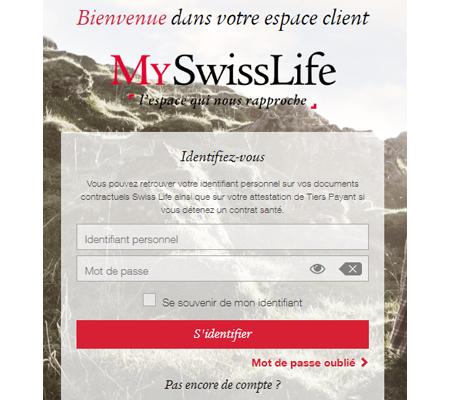 Se connecter à mon espace client MySwisslife