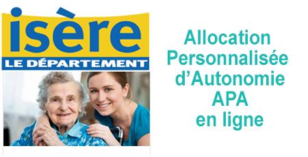 Demander et suivre une APA depuis l'espace personnel isere.fr