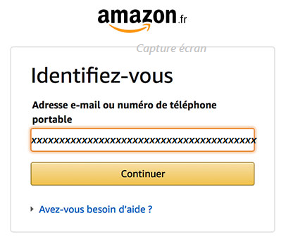 connexion à Amazon mon compte