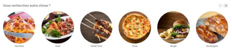 divers repas livrés par Uber eats