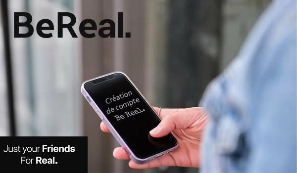 BeReal création de compte en ligne